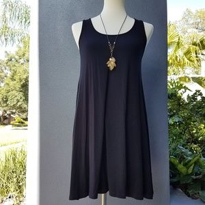 Abound Sz S Black Racer Back Ruched Tunic Tank Top
